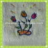 100% cotton embroidery baby bath towels