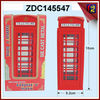 Alloy phone booth die cast toys antique telephone booth metal money box ZDC145547