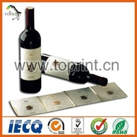 PET adhesive wine bottle label printing