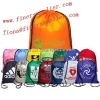 2012 fashion Nylon drawstring bag with silk screen logo
