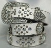Fashionable ladies western rhinestone belts,woman fashion genuine leather rhinestone belts,2012 Fashion Ladies Rhinestone Belt