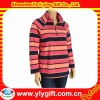 Women's Plus Size Fleece Colorful Striped Pullovers
