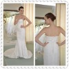 Mermaid/Trumpet Sheath Column Embroidery Sleeveless Watteau Train Wedding Dress WDS25