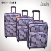 2012 colorful three pieces soft nylon luggage