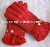 Flocking cloth winter gloves