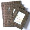 fashion wood rose leather photo frame