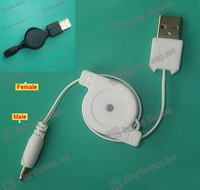 3.5mm male Retractable USB cables/retractable cable usb 2.0 to 2006 tuning fork