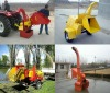 self-power of wood chipper diesel engine