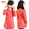 Baby Girls Frock Design For Children Winter Christmas Woolen Dress Coat