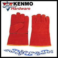 Red Cow Split Leather Welding Glove