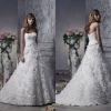 Adorable A Line Handmade Flower Overlapping Sweetheart Chapel Train Wedding Dress Bridal Gown