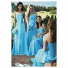 Hot-sale straspless sheath chiffon bridesmaid dress