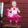 hot pink pettiskirt/petti coat/party dress/pettiskirts/baby skirt/tutus
