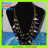 2012 latest women costume jewelry layered multi chains colourful enamel charms necklace