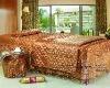 2012 latest beauty salon lace golden luxury duvet cver set