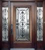 wrought iron glass panel
