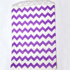 medium PURPLE chevron paper gift or favor bags - 5 x 7.5 inches