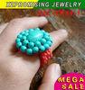 antique turquoise ring turquoise gemstone ring manmade top quality exquisite design