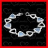 stylish 925 sterling silver multi stone bracelets for gifts