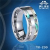 shell inlaid tungsten ring jewellry fashion anniversary gifts,tungsten wedding rings, pearl jewellery ring