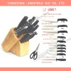 12pcs Fashion kitchen knife set with wooden Block /12pcs cutlery set