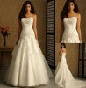WD-625 Magnificent embroidery white plus size grecian wedding dresses