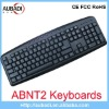 Nine Hotkeys Wired Multimedia Usb ABNT2 keyboard For Brazil