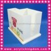 White Acrylic straw caddy for bar