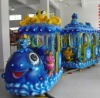 14 seats fish themed amusement park train rides for sale