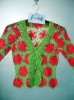 ladies 3/4 sleeve knitted cardigan