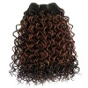 Human hair Jerry curl hand made hair weft