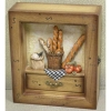 wooden craft,Key Box of Bread Design (59-XH48243B)
