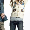 [Super Deal]Girl's sweater with handwork flower(child garment,kid wear)