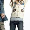 [Super Deal]Girl's sweater with handwork flower(child garment,kid wear)