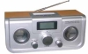 AM/FM 2 band wooden radio with speaker