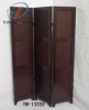 Wooden folding screen