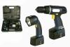 Cordless Screwdriver, Cordless flash light, Cordless tool sets