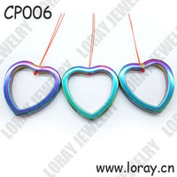 Hematite Rainbow Heart Pendant