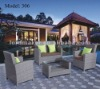 2012 Luxury Outdoor Sofa Set with Half Round SGS PE Rattan 311#