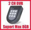 2CH CCTV MINI SD DVR Recorder Max 8G Motion Detection
