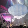 lighted big inflatable cloud for music event decoration