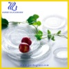 New style of elegant glass plate and bowl, decorative plate,hotel glassware