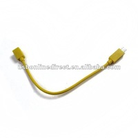micro USB female to S3 male CABLE deep 23cm yellow
