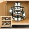 Plastic kitchen pan holder