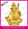 24K gold plated India god lord Ganesh statues