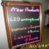 7 color changing led arcylic writing board with wooden frame