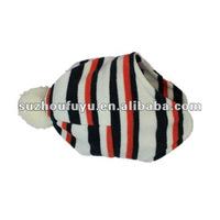 colorful striped polar fleece hat