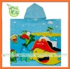 100% cotton poncho towel with kids towel poncho