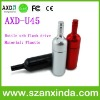 Red wine bottle usb flash drives