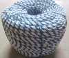 white with blue 6mm pe plastic rope /yarn